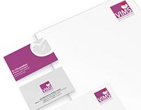 VIMS Branding Logo Business Card letterhead Design