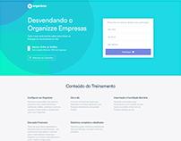 Página para Webinar do Organizze