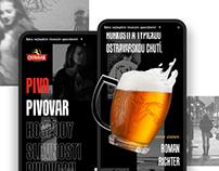 Ostravar Brewery Web Redesign
