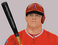 Mike Trout Digital Painting