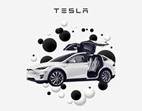 Interface, tableau de bord, Tesla modèle S