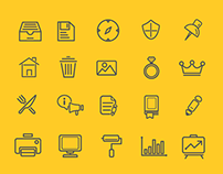 FREEBIES - 75 Various Outline Icon Set
