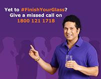 Livpure #FinishYourGlass campaign