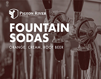 Pigeon River Fountain Sodas Identity