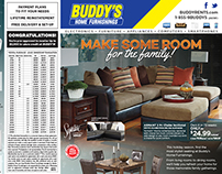 Buddy's Home Furnishings - 2015 Monthly Flyer Designs
