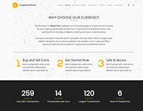 About Page - Cryptocurrency WordPress Theme