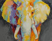 Слон серый, слон черный / Grey elephant, back elephant
