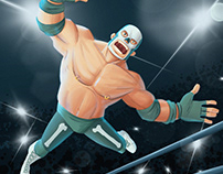 Wrestler-Illustration-Animation