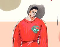 gosha rubchinskiy - fashion illustration