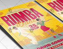 Retro Rumba Dance - Premium Flyer PSD Template