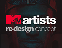 MTV Artists Redesign Concept