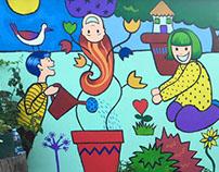 In the Garden of Diversity mural