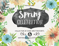 Spring Celebration -Collection of hand written fonts
