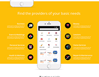 Mechanic, Pluber, Cleaner Finding Online App Design