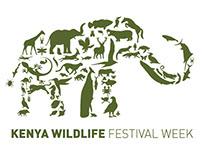 Kenya Wildlife Festival Week Logo Design