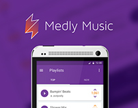 Medly Music Material Design