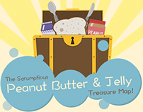 Peanut Butter & Jelly Treasure Map