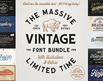 THE MASSIVE VINTAGE FONT BUNDLE - 94% OFF!