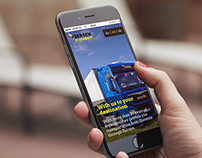 Responsive website for Seršen Transport