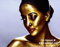 Golden Paint - Photoshop Effect