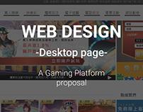 WEB DESIGN-GAMEING PLATFORM