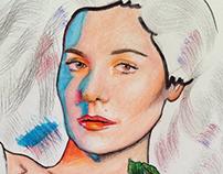 Pen & Pencil Mixed Drawing / Marina Diamandis