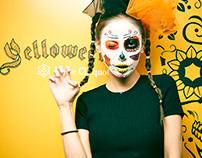 "Veuve Clicquot ""Yelloween make-up ART"""