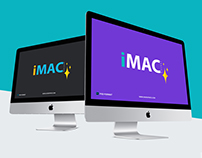 Free iMac Mockup With Two Different Perspective