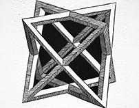 Stellated Octahedron Linocut