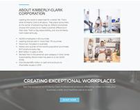 Kimberly-Clark Landing Page