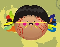 Some of Venezuelan Aborigines facial paint example.