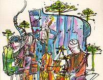 Enzo Favata Quartet sketch