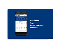Research (Pay, Accept Payment, Passbook)