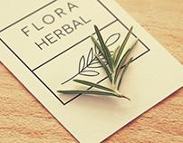 Identidade visual - Flora Herbal