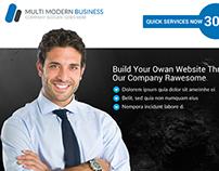 Web Hosting Business Flyer