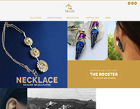Web Page Design for a Jewellery Designer