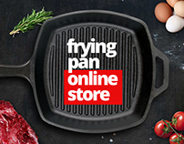 Internet shop of frying pans and kitchen goods.