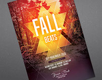 Fall Beats Flyer