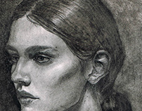 Portrait of charcoal