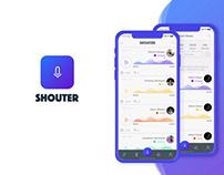 FREE Sketch + Kite App - UX/UI Shouter App for iOS