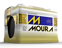 Baterias Moura 3D Maya e Arnold render