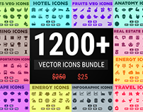 Vector Icons Bundle | Glyph Icons - Solid Icon