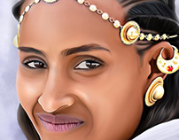 Ethiopian Princess Digital Painting by Wayne Flint