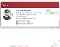 Check-in Bootstrap Profile card