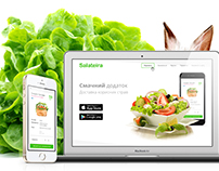 Healthy food delivery app & landing page