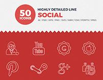 JI-Social Media Line Icons