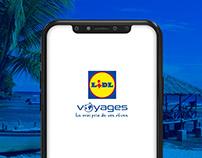 Lidl Voyages - App Design