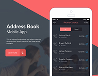 Address Book - iOS Mobile App