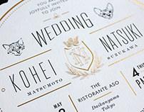 Wedding Invitation for Kohei & Natsuki