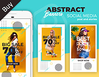 Abstract Sale Banners